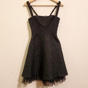 Bcbgmaxazria Black Lace Dress